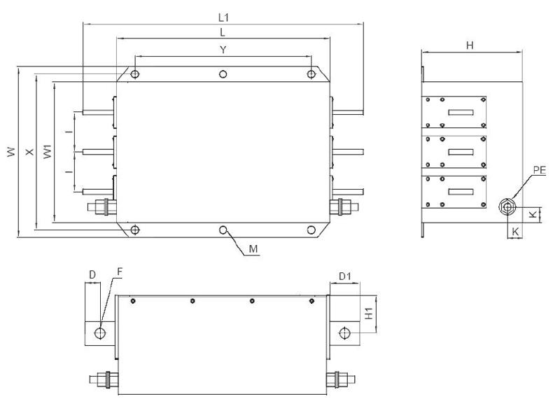 FEP – Filtry sieciowe 3-faz. kl. B