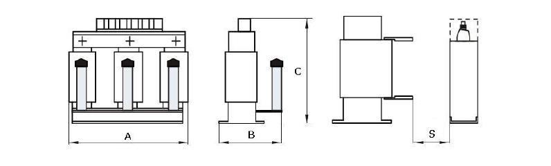 Filtry FLC - wymiary