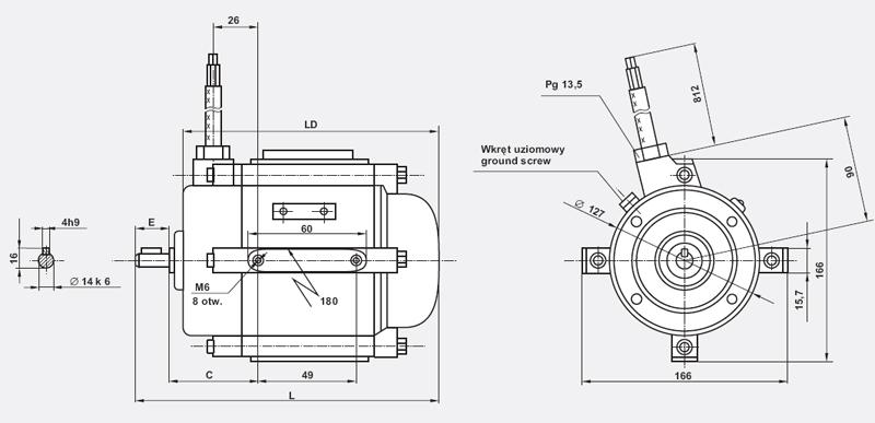 Besel - silniki elektryczne 3-fazowe do napędu wentylatorów osiowych typu SOg