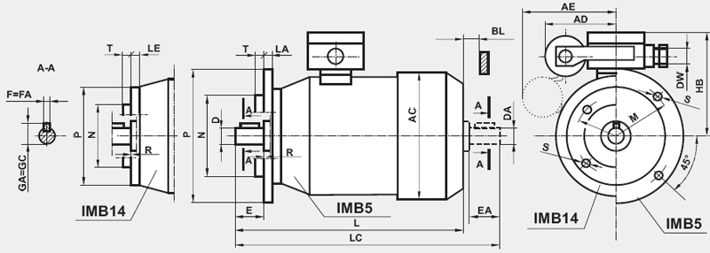 Silniki indukcyjne 1-faz o wzniosie osi wału 63
