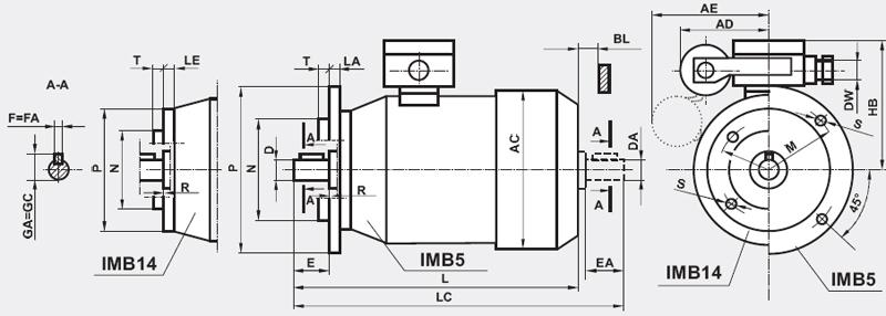 Silniki elektryczne 1-faz o wzniosie osi wału 63